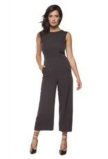 Dex Black Crop Wide Leg Jumpsuit