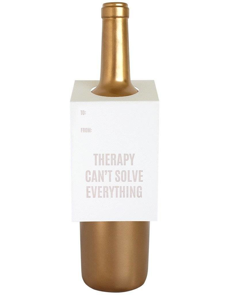 """Chez Gagne """"Therapy Can't Solve Everything"""" Wine Card"""