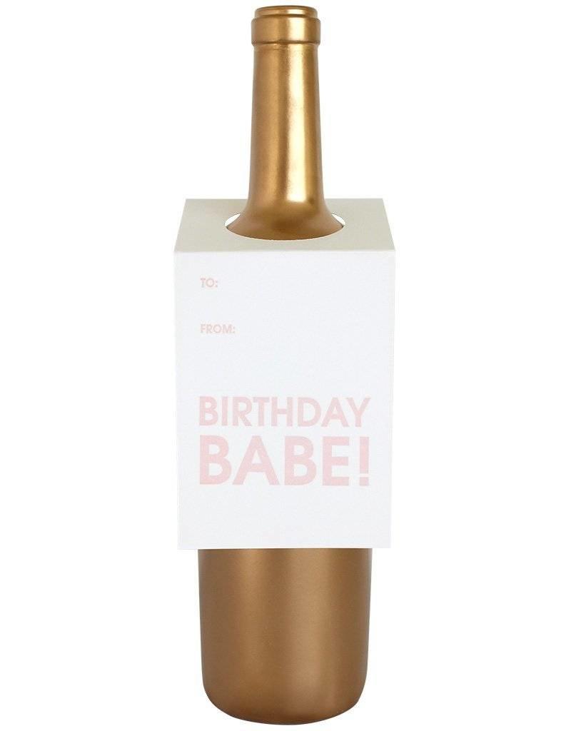 "Chez Gagne ""Birthday Babe"" Wine Card"