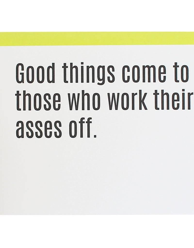 """Chez Gagne """"Good Things Come to Those"""" Card"""