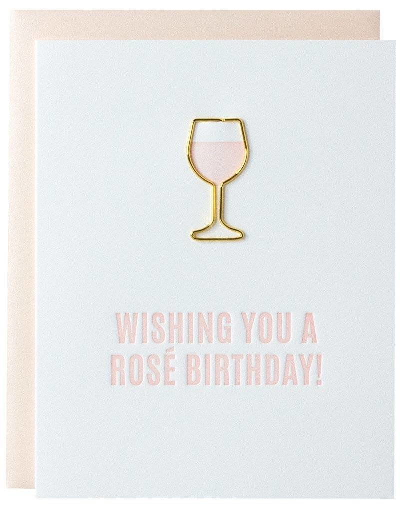 """Chez Gagne """"Wishing You A Rose Birthday"""" Card"""