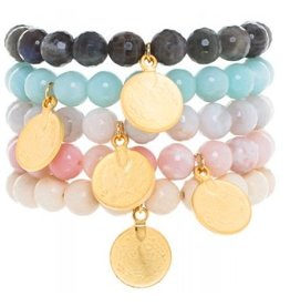 Loves Affect Delia Bracelet w/ Gold Charm