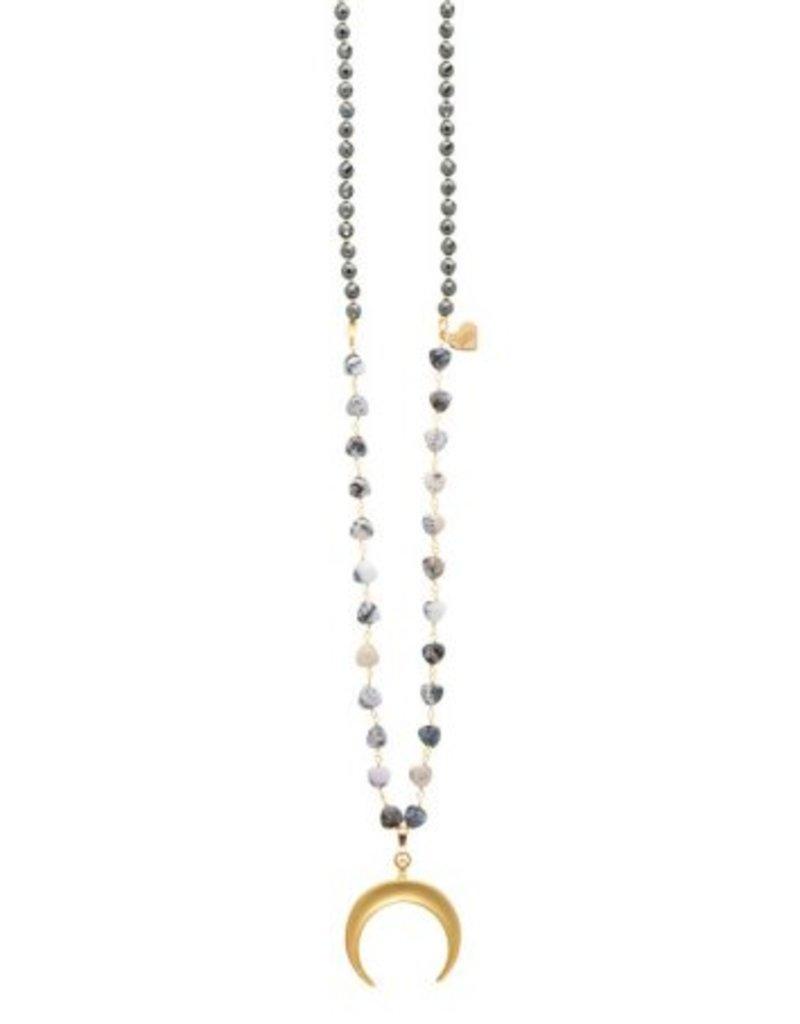 Loves Affect Raven Pendant Necklace