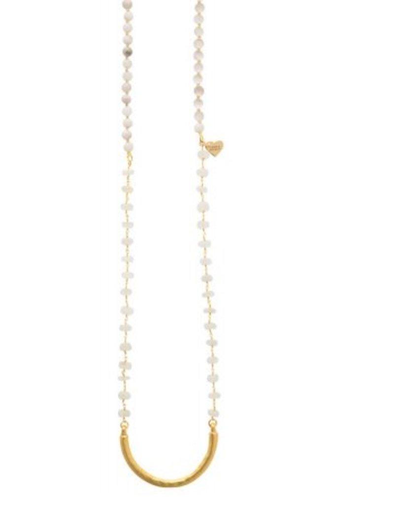 Loves Affect Maren Gold Bar Layering Necklace