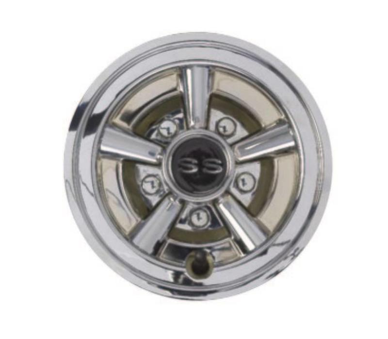 "8"" CHROME SS WHEEL COVER"