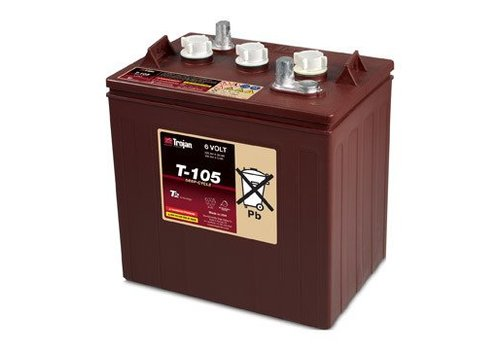 TROJAN T105 TROJAN 6 VOLT BATTERY:  115AMP HOURR