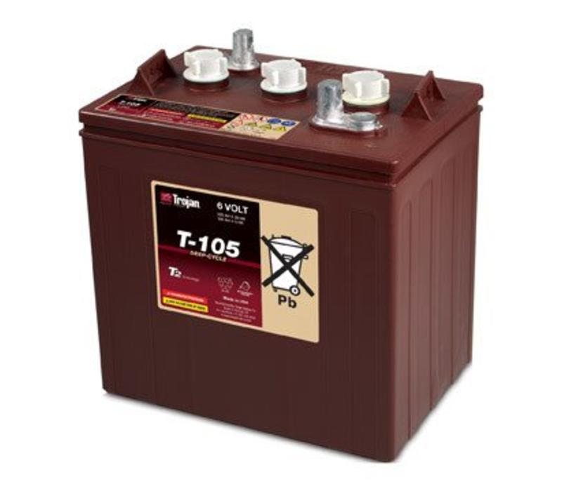 T105 TROJAN 6 VOLT BATTERY: 115AMP HOUR