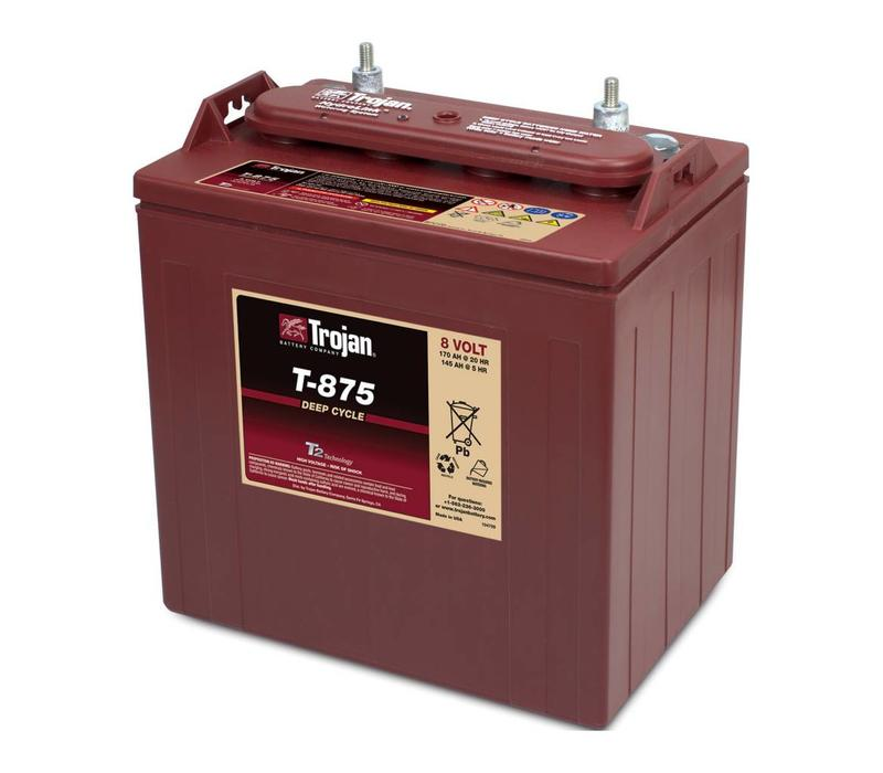 T875 TROJAN 8 VOLT BATTERY: 115AMP HOUR