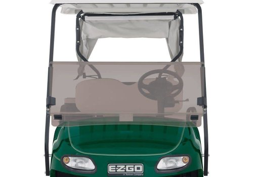 WINDSHIELD EZGO NEW TXT 14-UP HINGED CLEAR
