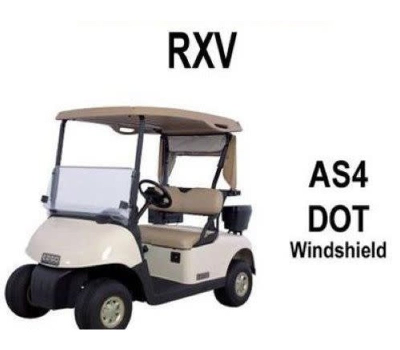 WINDSHIELD EZGO RXV HINGED CLEAR AS4