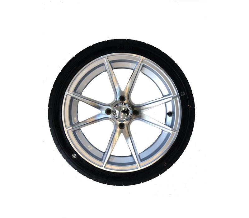 "14"" APOLLO SILVER / 205/35-14 KZT RADIAL TIRE"