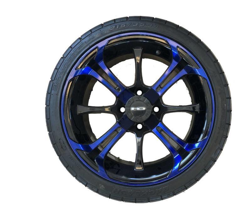 SET,14 B.LASH W/SPINOUT 14X7 BLUE/BLK