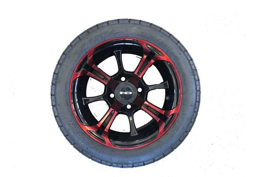 E-Z-GO SET,40-12 BLASH W/S.OUT 12X7 RED/BLK