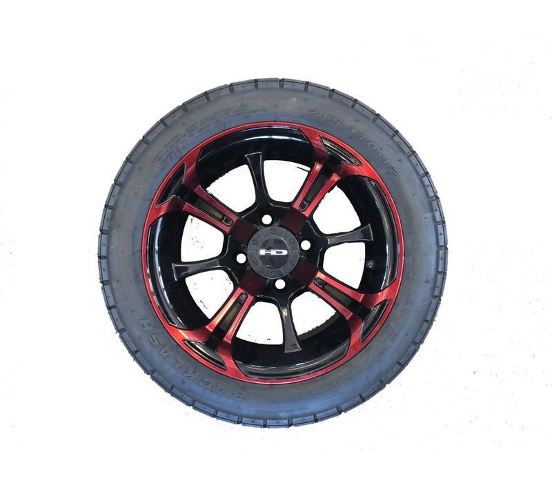 SET,40-12 BLASH W/S.OUT 12X7 RED/BLK
