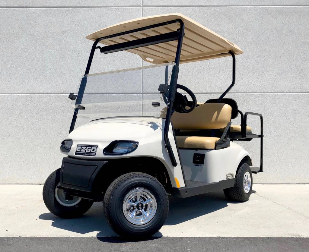 2018 E-Z-GO TXT 48V (Ivory) - Dixielectricar on ez go cart, txt golf car, txt pds, txt valor,