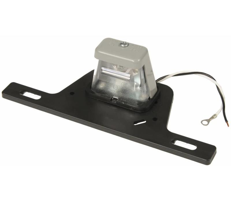 LICENSE PLATE BRACKET W/ LIGHTED TAG LAMP