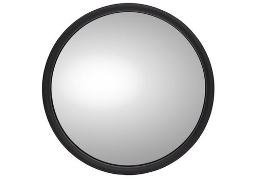 "E-Z-GO EXTERIOR MIRROR ROUND 6"" WITH LOGO LEFT"