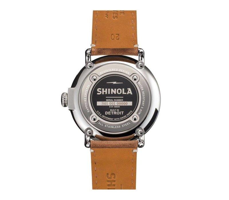 Runwell  Chrono 47mm, Tan Leather Strap