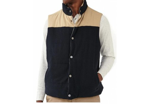 The Normal Brand Reversible Vest Dune Shell/Navy Flannel