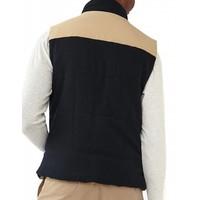 Reversible Vest Dune Shell/Navy Flannel