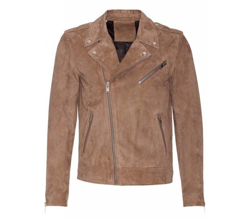 Shnlean Suede Biker Jacket