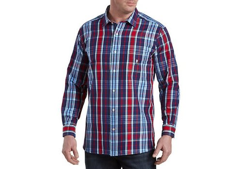 Psycho Bunny Flannel Sport NVY/RED