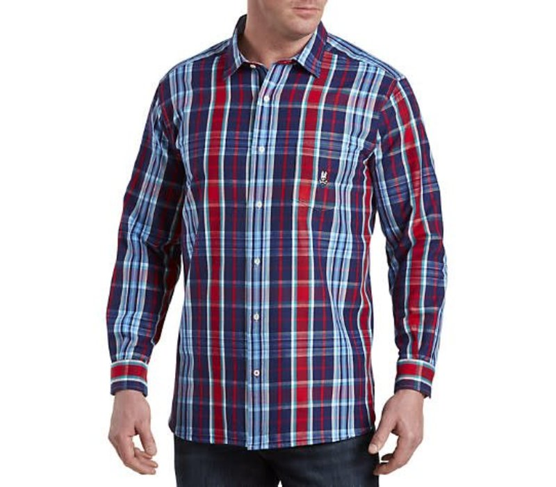 Flannel Sport NVY/RED