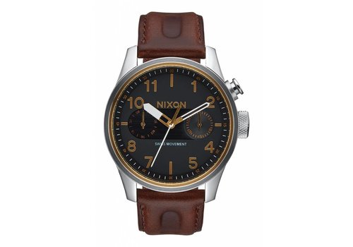 Nixon Safari Deluxe Leather Black/Brown