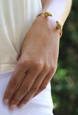 Julie Vos Ram Flexible Gold Open Bangle