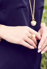 Julie Vos Gold Penelope Bangle Medium