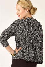 Charlie Page Black & White Knit Sweater Jacket
