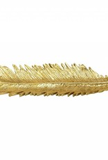 Sagebrook Slim Palm Leaf Gold Plate