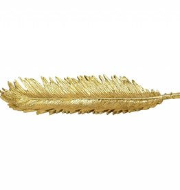 Sagebrook Slim Palm Leaf Gold Plate