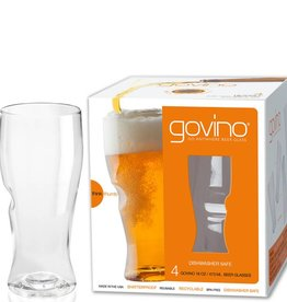 Go Vino 16 OZ Beer Glasses Set/4 Dishwasher Safe