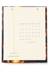 Kate Spade NY Desk Calendar with Tortoise Easel