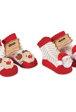 Mudpie Holiday Rattle Toe Socks 0-12 MO