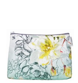 Designers Guild Medium Sibylla Floral Aqua Washbag