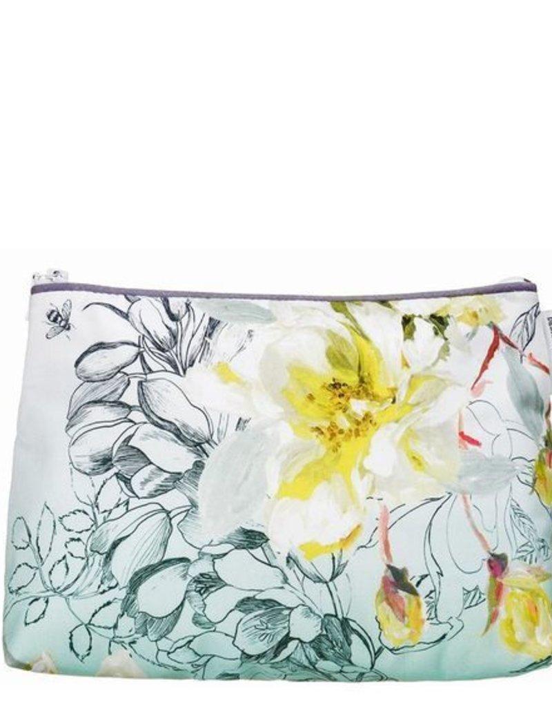 Designers Guild Medium Sibylla Floral Aqua Washbag
