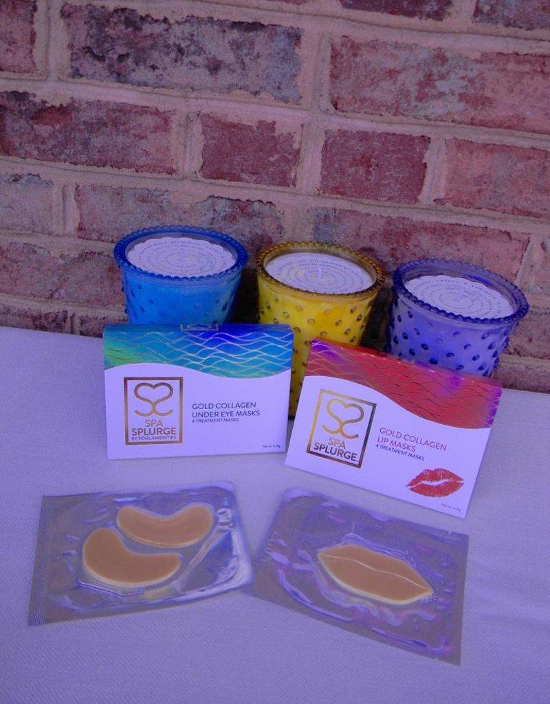 Spa Splurge Gold Collagen Under Eye Masks & Lip Masks Gift Set