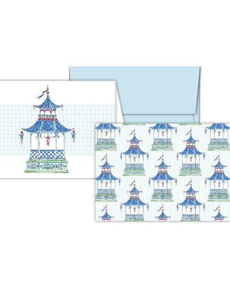 Rosanne Beck Collection Petite Notecard Combo - Blue/Green Pagoda