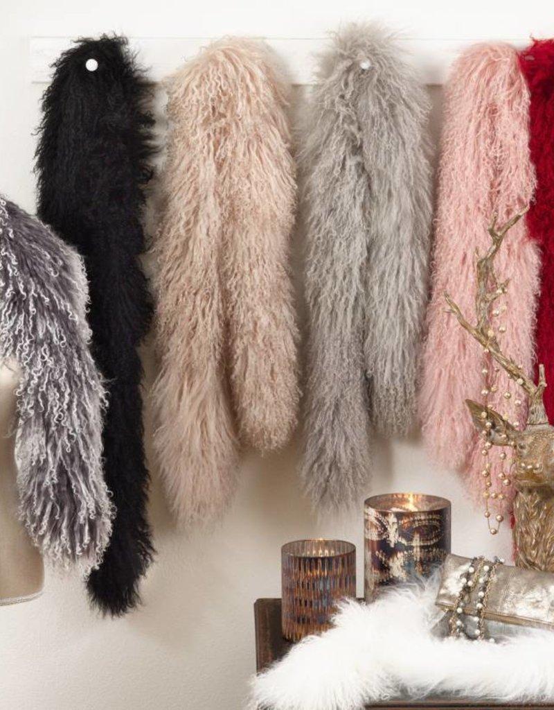 Saro Mongolian Lamb Fur Scarf