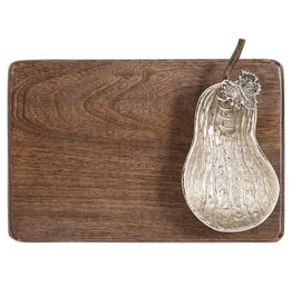 Mudpie Harvest Gourd Metal and Wood Serving Board