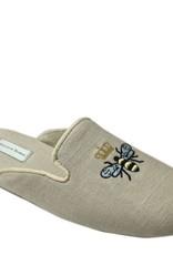Patricia Green Queen Bee Linen Slippers