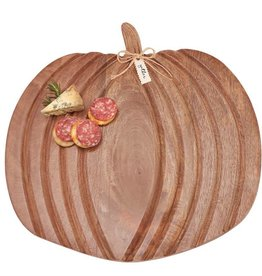 Mudpie Large Wooden Pumpkin Cheese Board
