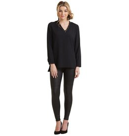 Mudpie Talton V Neck Tunic Top in Black