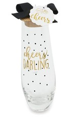 Mudpie Cheers Darling Stemless Champagne Glass