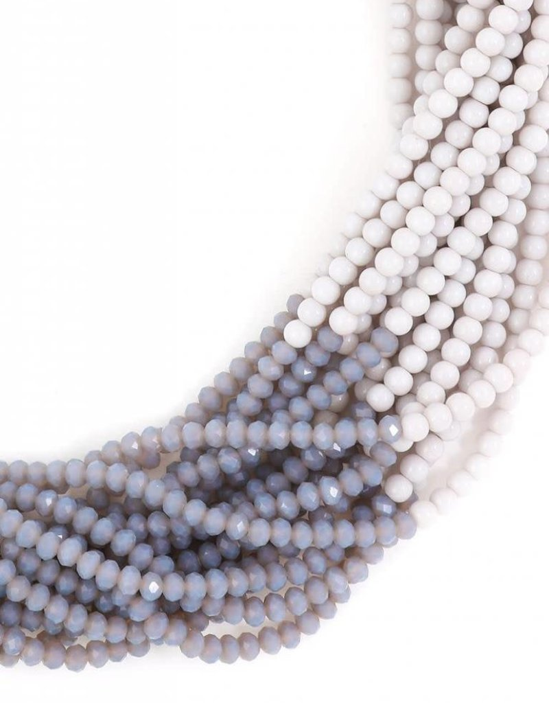 Multi Strand Two Tone Necklace