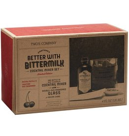 Two's Company Bittermilk Cocktail Mixer Set - Holiday Yuletide Old Fashioned