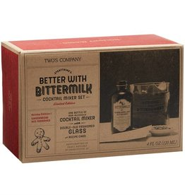 Two's Company Bittermilk Cocktail Mixer Set - Holiday Gingerbread Old Fashioned