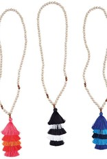 Mudpie Tiered Tassel Beaded Necklace
